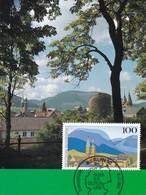 Germany Maximum Card 1993: Nature Protection; Natur Park Harz; Goslar Kirche Church - Umweltschutz Und Klima