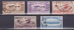 E071bis – EGYPTE – EGYPT – 1933 – INTERNATIONAL AVIATION CONGRESS – Y&T # 150/54 - USED 70 € - Vliegtuigen