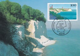 Germany Maximum Card 1993: Nature Protection; Rügen Island Ostsee. Naturschutz - Umweltschutz Und Klima