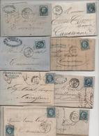 ANNONAY / CAHORS / LIMOUX / PERIGEUX / MAZAMET / PERPIGNAN / LAVELANET / MIRECOURT - 1849-1876: Période Classique