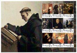 Ukraine 2020, Protestant Reformation, Martin Luther, Sheetlet Of 9v - Ukraine