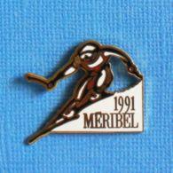 1 PIN'S //  ** 1991 / MÉRIBEL CŒUR DES TROIS VALLÉES ** . (Albertville) - Wintersport