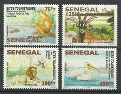 SENEGAL  2008  TOURIST SITES, WILDLIFE PARKS,FAUNA, BIRDS,ANIMALS  SET  MNH - Francobolli