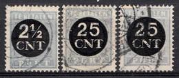 Pays-Bas 1923 Mi.nr: Porto 62-64  Oblitérés / Used / Gest. - Taxes