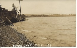 «Brome Lake», Lac Brome, Québec, Photo J.Albert Légaré, Waterloo (D101) - Other