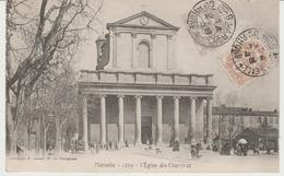 CPA PRECURSEUR MARSEILLE (13) L' EGLISE DES CHARTREUX - ANIMEE - Monumenti