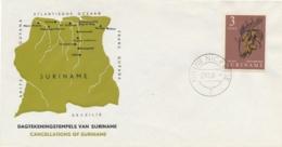 Suriname - 1964 - 3 Cent Zegel Met Dagtekeningstempel NIEUW NICKERIE/7 Op Speciale Cover - Geen Adres - Suriname ... - 1975