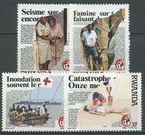 Ruanda 1988 125 Jahre Internationales Rotes Kreuz 1403/06 Postfrisch - Ruanda