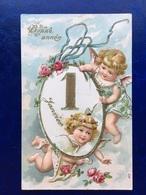 """Cpa--gaufrée-""""Anges Du Réveillon """"--(my Ref 256)-1906 - New Year"""