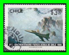 CHILE SELLO 1980 – ANIVERSARIO DE LAS FUERZAS AEREAS - Cile