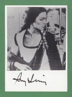 AMY IRVING Original In Person Signed Glossy Photo AUTOGRAPHE / AUTOGRAMM  10/15 Cm - Autographes