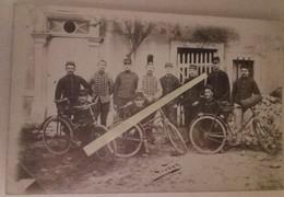 1910 SOUILLY Meuse Cycliste Vélo Gérard 162, 151 Eme RI 61 Eme Art 15 Eme Chasseurs à Cheval Poilu 14-18 WW1 Carte Photo - Guerra, Militari
