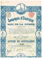Titre Ancien - Compagnie D' Electricité Du Midi De La Russie - Titre De 1908 - - Russie