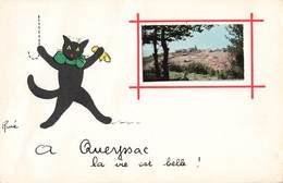 46 Queyssac Cpa Carte Fantaisie à Queyssac La Vie Est Belle Illustration René Chat Petite Photo - Andere Gemeenten