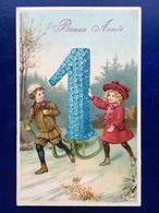 """Cpa--gaufrée-""""Le Traîneau De Fleurs Du 1er Janvier """"--(my Ref 262)-1912 - Anno Nuovo"""