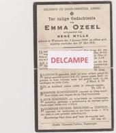 DOODSPRENTJE OZEEL EMMA ECHTGENOTE MYLLE WESTOUTER 1884 - 1931   Bewerkt Tegen Kopieren - Santini