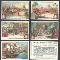 Liebig - Vintage Chromos - Series Of 6 / Série Complète - La Vie Au Siam - En Français - Thailand - Liebig