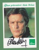 ALAIN DELON Original In Person Signed Photo AUTOGRAPHE / AUTOGRAMM  10/15 Cm - Autographes