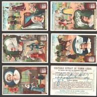 Liebig - Vintage Chromos - Series Of 6 / Série Complète - Coiffures Féminines - En Français - Liebig