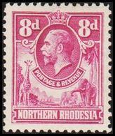 1925. NORTHERN RHODESIA.  Georg V.  8 D. (MICHEL 8) - JF318429 - Rhodesia Del Nord (...-1963)