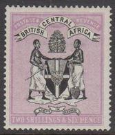 1895. BRITISH CENTRAL AFRICA.  TWO SHILLING & SIX PENCE Thin. (MICHEL 25) - JF318445 - Nyasaland (1907-1953)