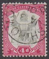 1897-1901. BRITISH CENTRAL AFRICA.  4 D SHIROMO JA 31 01. (MICHEL 44) - JF318448 - Nyasaland (1907-1953)
