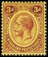 1913-1918. NYASALAND PROTECTORATE. Georg V  3 D.  (MICHEL 15) - JF318470 - Nyasaland (1907-1953)