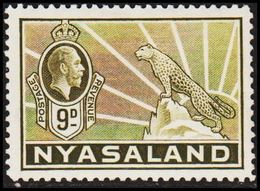 1934. NYASALAND. Georg V. Leopard.  9 D.  (MICHEL 43) - JF318485 - Nyasaland (1907-1953)
