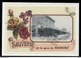 HAMONT  ...  2 Cartes Souvenirs Gare ... Train  Creations Modernes Série Limitée - Hamont-Achel