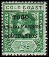 1916. TOGO. TOGO ANGLO-FRENCH OCCUPATION  ½ D GOLD COAST. (MICHEL 34) - JF318503 - Unused Stamps