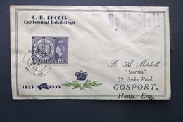Nyasaland: 1953 Air Cover To Hants, Eng. (#PW8) - Altri - Oceania