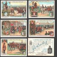 Liebig - Vintage Chromos - Series Of 6 / Série Complète - Gardes Du Corps - En Français - Liebig