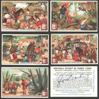 Liebig - Vintage Chromos - Series Of 6 / Série Complète - Au Mexique - En Français - Mexico - Liebig