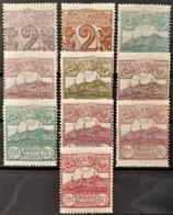 SAN MARINO 1903/25 - MLH - Sc# 40, 41, 42, 44, 47, 49, 52, 57, 63, 65 - Unused Stamps
