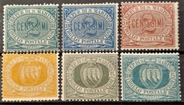 SAN MARINO 1877/99 - MLH - Sc# 1-6 - Unused Stamps