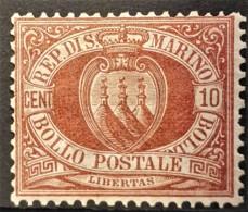 SAN MARINO 1877/99 - MLH - Sc# 9 - 10c - Unused Stamps