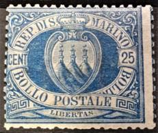 SAN MARINO 1895 - MLH - Sc# 14 - 25c - Unused Stamps