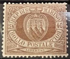 SAN MARINO 1877/99 - MLH - Sc# 18 - 40c - Unused Stamps
