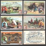 Liebig - Vintage Chromos - Series Of 6 / Série Complète - Voyage De Sven Hedin Au Thibet - En Français - Tibet - Liebig