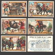 Liebig - Vintage Chromos - Series Of 6 / Série Complète - Le Meunier, Son Fils Et L'Âne - En Français - Liebig