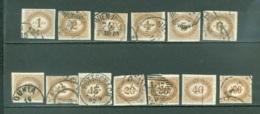 Autriche  Taxe  Yvert 10/21  Ou  Michel  10/21 Ob  B/TB  Voir Scan Et Description - Portomarken