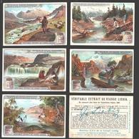 Liebig - Vintage Chromos - Series Of 6 / Série Complète - Sources De Fleuves Importants - En Français - Liebig
