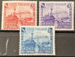 ITALY / ITALIA 1939 - MLH - Sc# 410-412 - Complete Set! - Centenario Delle Ferrovie - 1900-44 Vittorio Emanuele III
