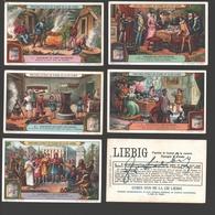 Liebig - Vintage Chromos - Series Of 6 / Série Complète - Histoire De L'art Culinaire - En Français - Liebig