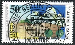 Berlin - Mi 804 - Zentrisch OO Gestempelt (C) - 50Pf  100 Jahre Urania Berlin - Berlin (West)