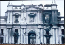 CHILI CHILE FACADE DU PALAIS DE LA MONEDA SANTIAGO STIGMATES DU COUP D'ETAT DE SEPTEMBRE 1973 - Fotografía