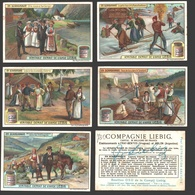 Liebig - Vintage Chromos - Series Of 6 / Série Complète - En Scandinavie - En Français - Scandinavia - Liebig