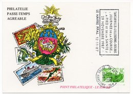 CP -  Philatélie Passe-temps Agréable - 1987 Le Havre - Postal Services
