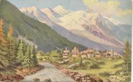 74 CHAMONIX MONT BLANC MASSIF DU MONT BLANC CARTE COLORISEE Editeur LEVY LL 586 - Chamonix-Mont-Blanc