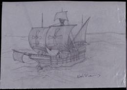 SOLOMON ISLANDS (2006) Santa Maria. Original Artwork For 500th Anniversary Of Death Of Columbus. Scott No 1050. - Isole Salomone (1978-...)